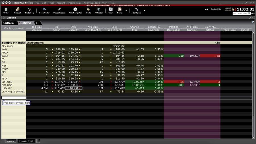 Trader Workstation TWS klasyczny